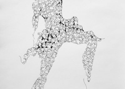 Anya Adendorff, Conception, pen and ink on paper, framed, 350 x 500mm, R4300