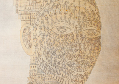 Anya Adendorff - Ornate Head - 1000x800 Mixed media on canvas R8400