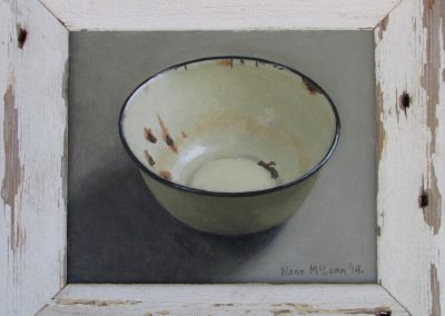 Pale Yellow Bowl, oil on board, framed, 185 x 155mm, R2940