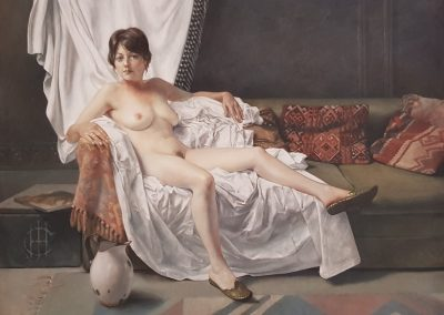 Diane McLean, Reclining Nude, 1120 x 920mm, framed, oil on canvas, R57 000