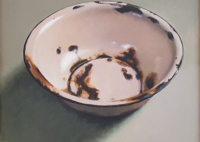 Diane McLean, Rusted Pink Bowl, oil on board, 320 x 280mm, framed, R6300
