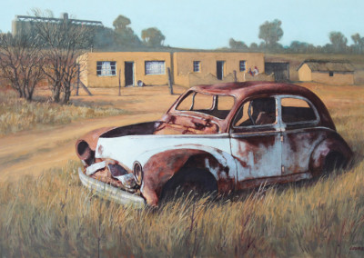 Lourens Oosthuizen - Roes Blik - 500x760 Oil on Canvas R11000