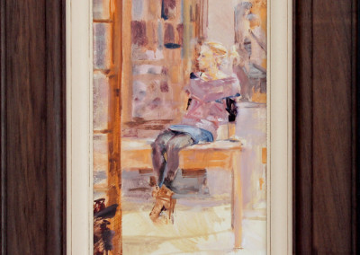 Niël Jonker - Taking a break - 645x495(fr) Oil on Board R10000