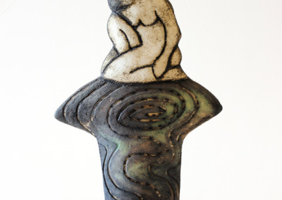 Charmaine Haines - Sculpted Seated Figure (image1) - Ceramic _ Oxides R1970