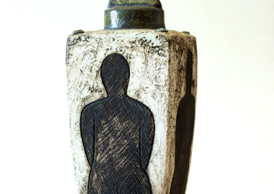 Charmaine Haines - Sculptural Vessel with Figures (image1) - Ceramic _ Oxides R3950