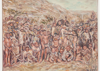 Cobus van Bosch, Bathlaping children after capture by colonial forces near Langeberg 1897, Oil on Canvas, 2015, R9000, 48x38