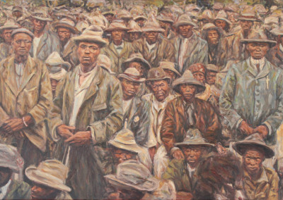 Cobus van Bosch - Chiefs gathering at Sunnyside Pretoria 1907 - 630x940 Oil on Canvas R28000
