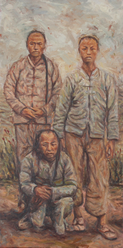 Cobus van Bosch - Chinese Mine Workers on the Rand circa 1907 I - 780x400 Oil on Canvas R15750