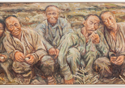 Cobus van Bosch, Chinese mine workers on the rand III 1907 , Oil on Canvas, R24000, 78x63