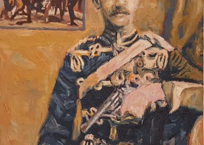 Cobus van Bosch, Colonel Hon George Hugh Gough of the 14th Hussars, oil on canvas, 300 x 400mm, R7850