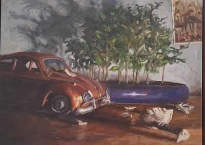 Cobus van Bosch, Crash, oil on canvas, framed, 610 x 450mm, R9450