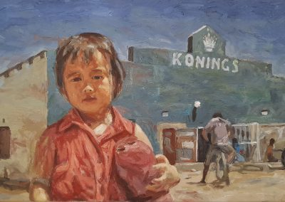Cobus van Bosch, Lala at the Chinese Shop, Prince Albert, framed, oil on 12 600canvas, 600 x 395mm, R12 600