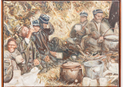 Cobus van Bosch, Patients of the Fort England Asylum in Grahamstown at a picnic, Late 1890s , Oil on Canvas, 2013, R14000, 63x48