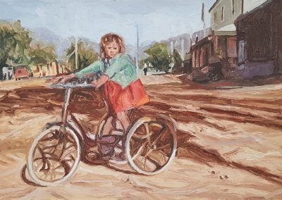 Cobus van Bosch, Veona Lewin, Prince Albert 1940s, 760 x 380mm, framed, oil on canvas, R15 750