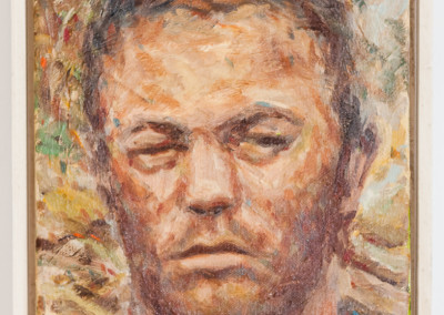 Cobus van Bosch,Cape Rebel A Haugh in Captivity in Graaff-Reinet 1901 , Oil on Canvas, 2014, R7800, 25x32