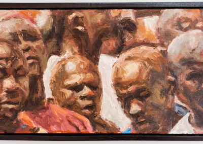 Cobus van Bosch,Miners Marching, Oil on Board, 2014, R6 200, 42x53