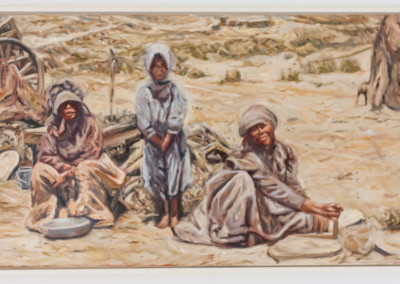 Cobus van Bosch,Nama Women and child Namaqualand late 1800s, Oil on Canvas, 2013, R12 000, 78x41