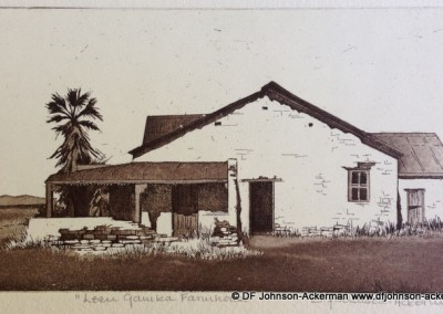Diane Johnson-Ackerman - Leeugamka Farmhouse - 100x200 Etching R1260