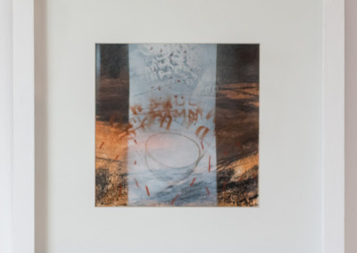 Fiona Rowett, Falling Pot 1 Mixed media on Paper, R3150, 50x50