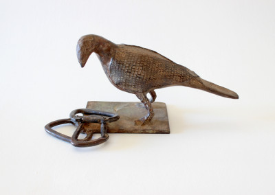 Sarel Petrus - Bird with Carabiners - Bronze R9450