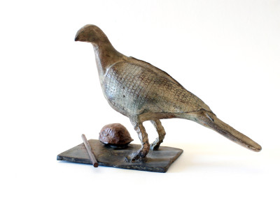 Sarel Petrus - Bird with Shell and Pencil (image1)- Bronze R9450