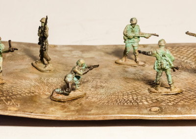 Sarel Petrus, Disjointed with toy soldiers, Bronze, R8660