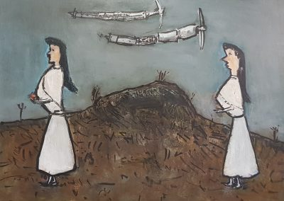 Boer Drone oil on canvas 700 x 550 George Coutouvidis R30 000