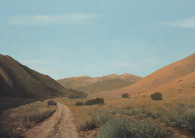 Louis Nel - Karoo Road - 550x710 Oil on Canvas R4750
