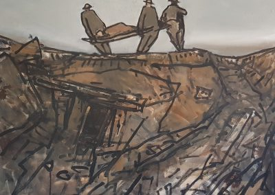 Stretcher Bearers WWI oil on canvas 1000 x 800 George Coutouvidis R45 000