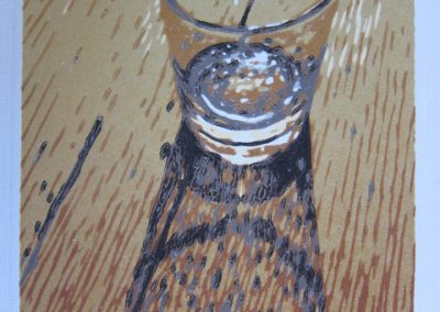 Onder in my Whiskeyglas - 240 x330mm, unframed, Reduction Woodblock, R3600