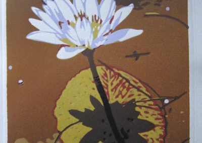 Joshua Miles - Pers Lelie - 240x330uf - Reduction Woodblock - R3150