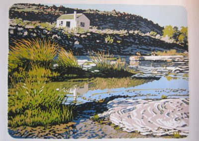 Stuurmansfontein Riverbed,  565 x 420mm, unframed, Reduction Woodblock, R8700