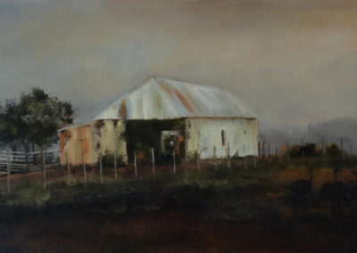 Janet Dirksen - Karoo Barn - Oil on Canvas - R6500