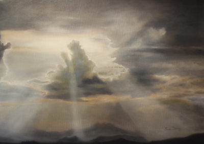 Janet Dirksen - Last Rays - 750x1000 Oil on Canvas R8400