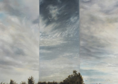 Janet Dirksen - Slices of Sky - 750x1000 Oil on Canvas R8400