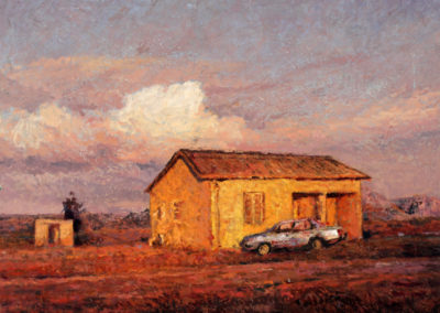 Ben Coutouvidis - Boland Evening - Oil on Canvas, 650 x 520mm, R14200