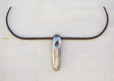 Collette Hurt - Bumper Bull - Vintage car bumper & scrap wire - R1575