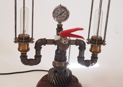 Pat Hyland Steampunk, Double Cage Lamp, Height 440mm, R3460